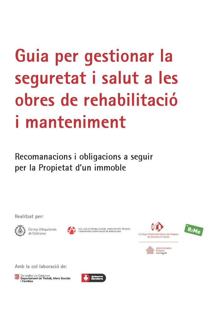guia per gestionar la seguretat i salut a les obres de rehabilitació i manteniment