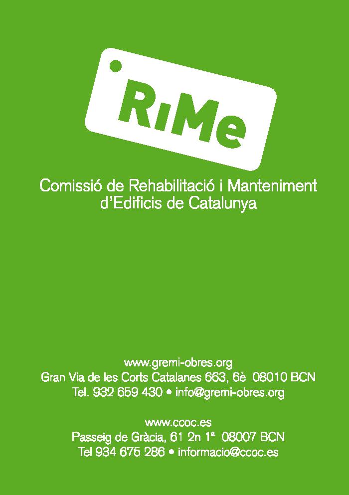 RiMe Comissió de Rehabilitació i Manteniment d'Edificis de Catalunya