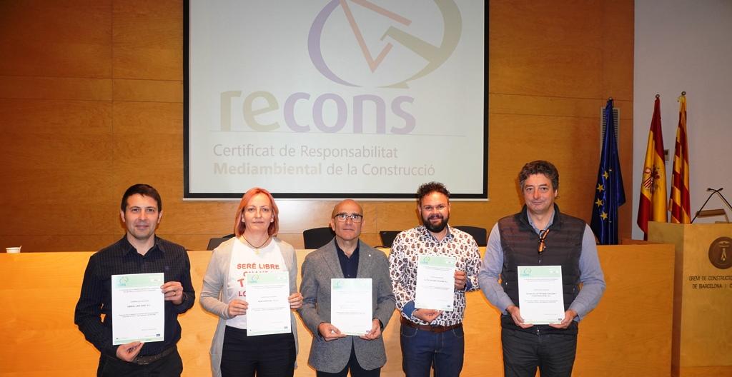 Entrega certificats RECONS